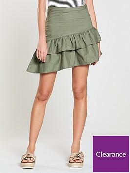 v-by-very-ruffle-poplin-skirt-khaki