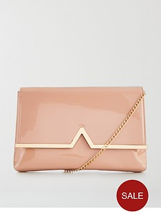 v-by-very-v-bar-patent-clutch-bag