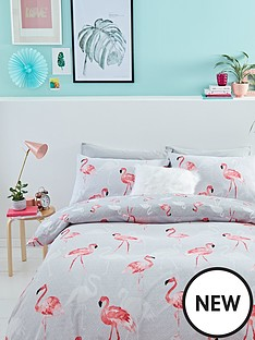 catherine-lansfield-flamingos-cotton-rich-duvet-cover-set
