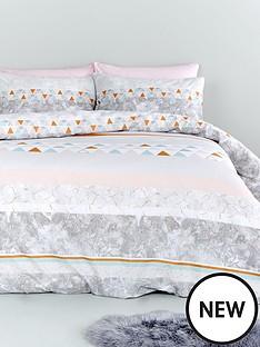 catherine-lansfield-marble-stripe-cotton-rich-duvet-cover-set