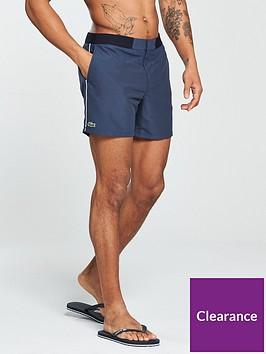 0e6c888792e42 Lacoste Sportswear Striped Swim Shorts