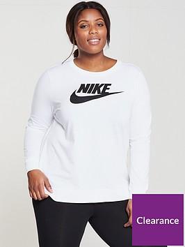 nike-sportswear-logo-long-sleeve-t-shirt-plus-size-whitenbsp