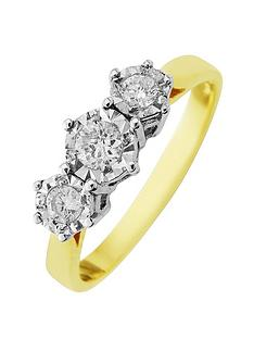 starlight-9ct-gold-1ctnbsplook-25-point-illusion-set-trilogy-ring