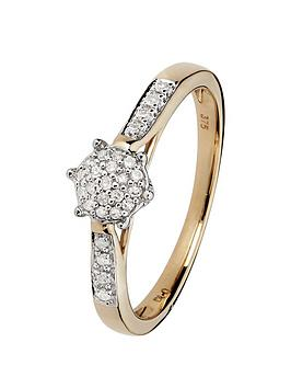 love-diamond-9ctnbspyellow-gold-10-point-diamond-cluster-ring-with-diamond-set-shoulders