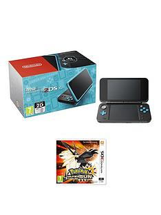 nintendo-new-nintendo-2ds-xl-black-and-turquoisenbspwith-pokemon-ultra-sun