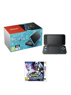 nintendo-new-nintendo-2ds-xl-consolenbspblack-and-turquoise-with-pokemon-ultra-moon