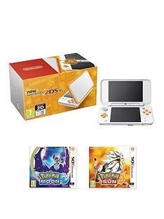 nintendo-new-nintendo-2ds-xl-hw-orange-and-white-with-pokemon-sun-and-pokemon-moon