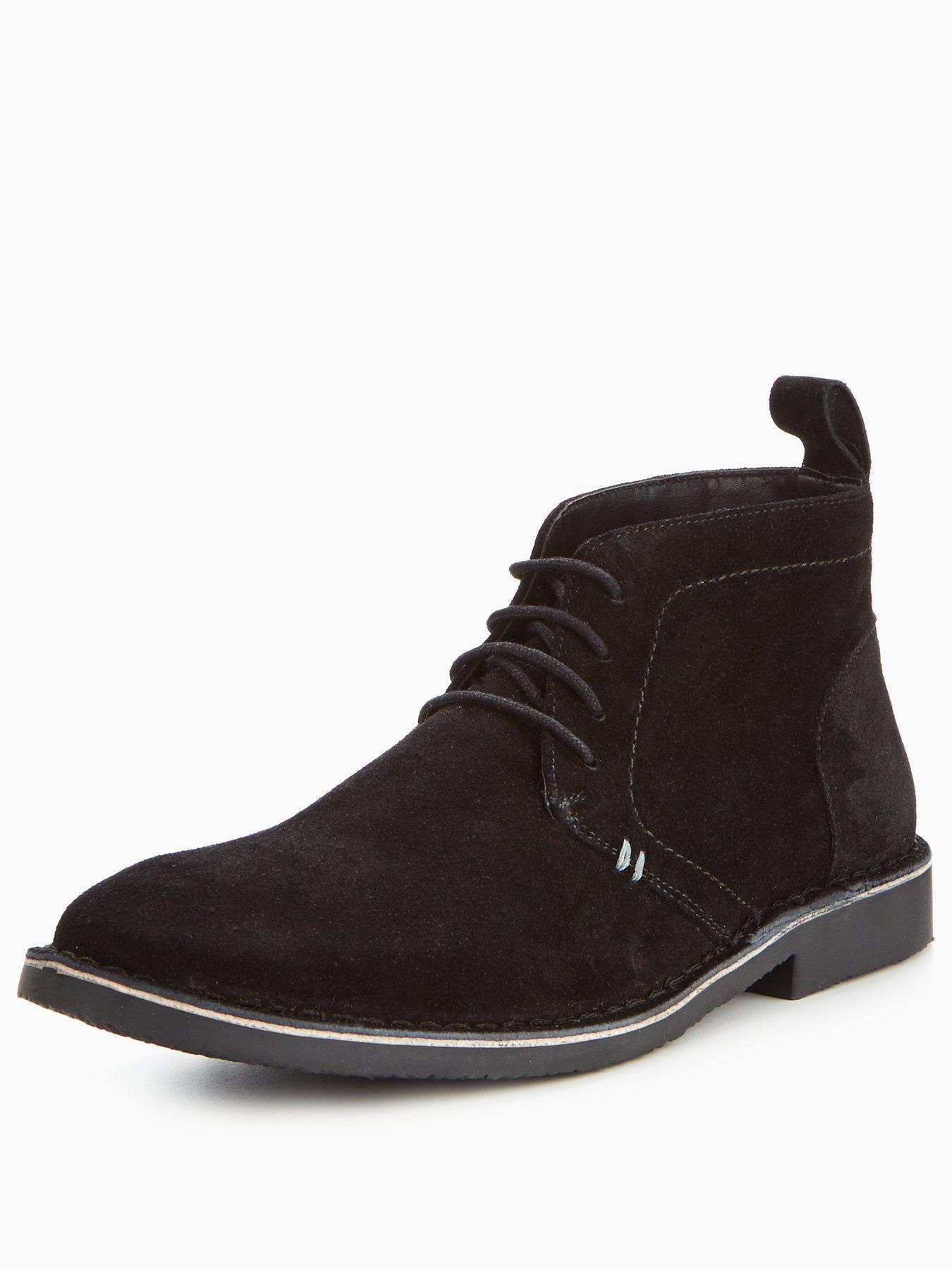 Latest Unsung Hero Warwick Suede Black Boots for Men Online Sale