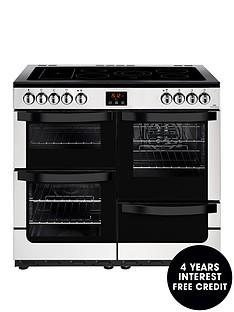 new-world-visionnbsp100e-electricnbsp100cmnbspwide-range-cooker-stainless-steel