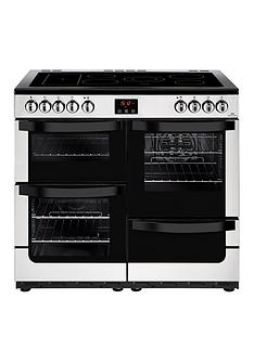new-world-vision-100e-100cmnbspwide-electric-range-cooker-stainless-steel-with-connection