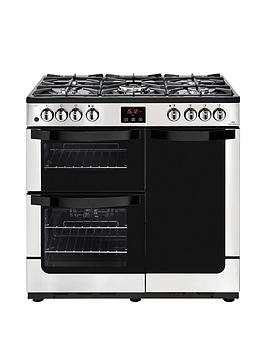 new-world-visionnbsp90dftnbspdual-fuel-90cmnbspwide-range-cooker-with-connection-stainless-steel