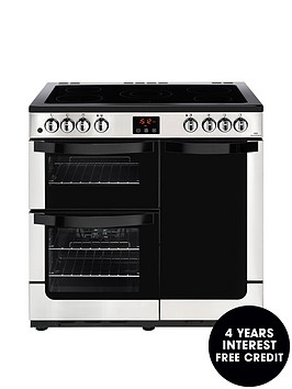 new-world-nw-vision-90enbspelectric-90cm-range-cooker-with-connection--nbspstainless-steel