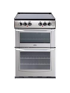 belling-bel-enfield-e552-55cm-electric-ceramic-double-oven-silver-with-connection
