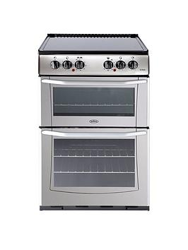 belling-enfieldnbspe552-55cm-electric-ceramic-double-oven-with-connection-silver