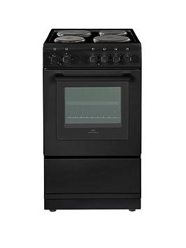 new-world-nw-50esnbsp50cm-electric-solid-plate-single-oven-black