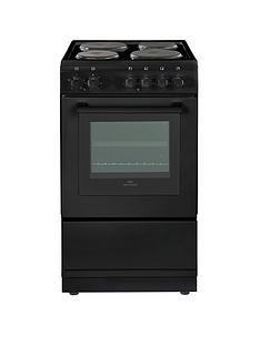 new-world-nw-50es-50cm-electric-solid-plate-single-oven-black-with-optional-connection
