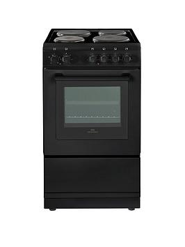 new-world-nw50esnbsp50cm-electric-solid-plate-single-oven-with-optional-connection-black