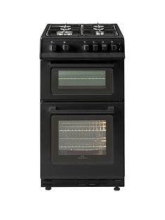 new-world-50gtc-50cm-wide-twin-cavity-gas-cooker-with-optional-connection-black