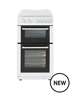 belling-bel-fs50gdol-50cm-gas-double-oven-white-with-connection