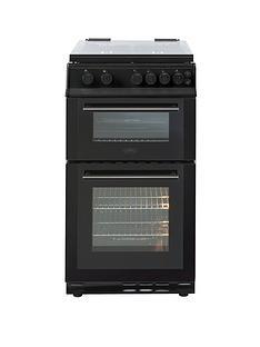 belling-fs50gdolnbsp50cm-wide-gas-double-oven-black