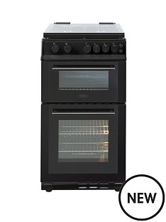 belling-bel-fs50gdol-50cm-gas-double-oven-black-with-l-connection