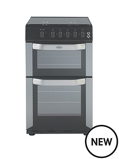 belling-fsg50do-50cm-wide-gas-double-oven-silver-with-connection