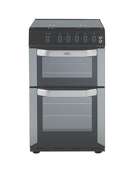 belling-fsg50do-50cm-wide-gas-double-oven-with-connection-silver