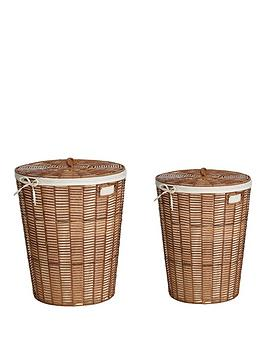 Very Natural Woven Set 2 Laundary Baskets Picture