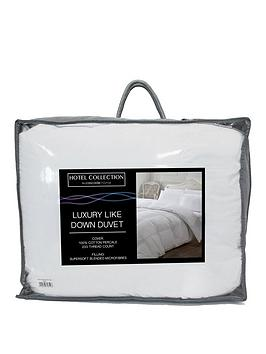 Very Luxury Like Down 100% Cotton Cover 10.5 Tog Duvet Picture