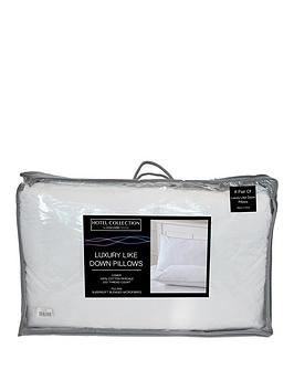 Very Luxury Like Down 100% Cotton Cover Pillows (Pair) Picture