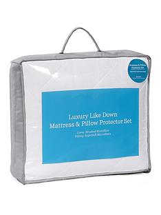 ideal-home-luxury-like-down-mattress-and-pillow-protector-set-sb