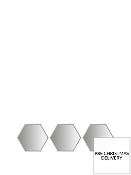 set-of-3-silver-hexagon-mirror