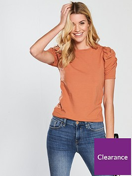 v-by-very-ruched-sleeve-t-shirt-rust