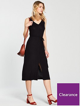 v-by-very-soft-spun-midi-strappynbspjersey-dress-black