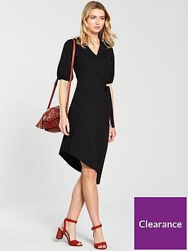 v-by-very-asymmetric-hem-wrap-dress-black