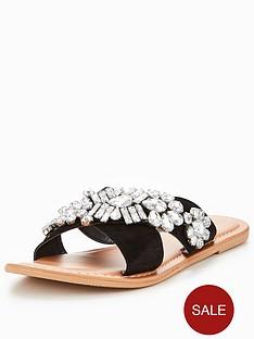v-by-very-sinead-leather-embellished-slider-black
