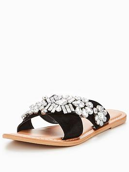 v-by-very-sinead-leather-embellished-slider-black
