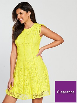 v-by-very-all-over-lace-ladder-trim-dress-yellow