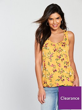 v-by-very-petite-scoop-bubble-hem-vest-mustard-print