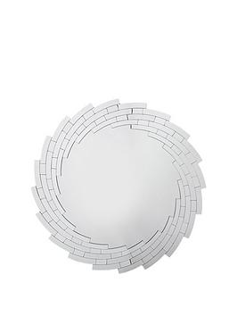 Michelle Keegan Home Michelle Keegan Home Swirl Faceted Round Wall Mirror Picture