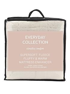 everyday-collection-super-soft-teddy-fleece-deep-5cm-mattress-topper