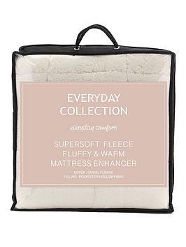everyday-collection-super-soft-teddy-fleece-deep-5cm-mattress-topper