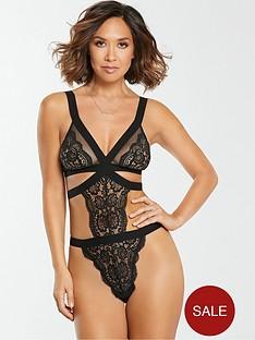 myleene-klass-lace-mesh-body-black