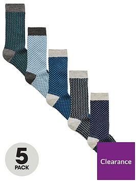 v-by-very-5-pk-texture-ankle-socks