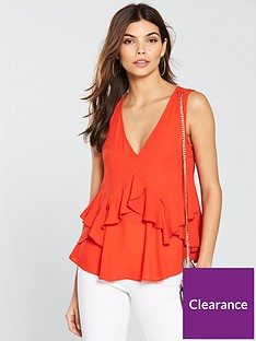 v-by-very-sleeveless-tiered-ruffle-top-rednbsp