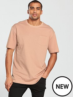 v-by-very-drop-shoulder-pique-pocket-tee
