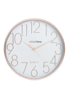 hometime-round-rose-gold-and-silver-wall-clock