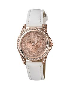 tikkers-rose-gold-white-strap-kids-watch