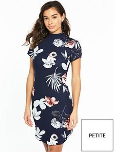 ax-paris-ax-paris-petite-printed-cap-sleeve-mini-dress