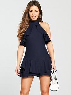 ax-paris-petite-frill-playsuit-navy